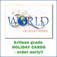 Artisan grade holiday cards - order early!!