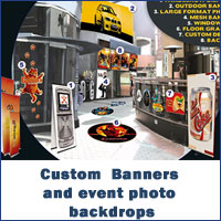 Custom  Banners and event photo backdrops